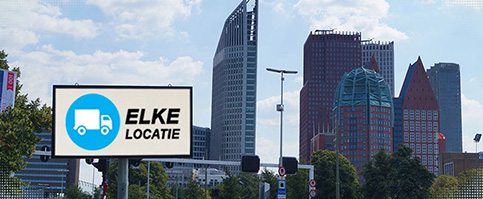 Infoled led reclamebord in Denhaag